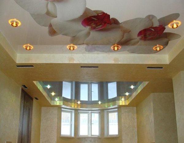 Художественные натяжные потолки